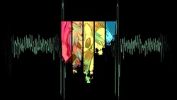 Size: 1366x768 | Tagged: safe, artist:goodstnero, dj pon-3, vinyl scratch, black background, female, simple background, solo