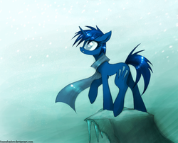 Size: 1200x971 | Tagged: safe, artist:foxinshadow, oc, oc only, clothes, ice, scarf, solo