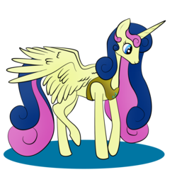 Size: 2000x2000 | Tagged: alicorn, alicornified, artist:zomgitsalaura, bon bon, bonicorn, high res, pony, race swap, safe, simple background, solo, sweetie drops, transparent background