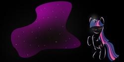 Size: 5040x2520 | Tagged: safe, artist:zomgitsalaura, twilight sparkle, black background, magic, simple background, solo