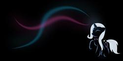 Size: 5760x2880 | Tagged: safe, artist:zomgitsalaura, trixie, pony, unicorn, black background, female, magic, mare, simple background, solo, wallpaper