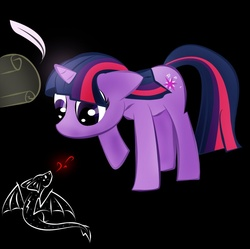 Size: 800x798 | Tagged: safe, artist:zomgitsalaura, twilight sparkle, black background, filly, simple background, solo