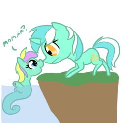Size: 800x800 | Tagged: safe, artist:otterlore, lyra heartstrings, sea pony, offspring, simple background, transparent background
