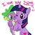 Size: 900x900 | Tagged: safe, artist:mutlu poni, spike, twilight sparkle, pony, unicorn, cute, happy, hug, nuzzling, one eye closed, spikelove, unicorn twilight