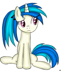 Size: 2000x2333 | Tagged: safe, artist:freefraq, dj pon-3, vinyl scratch, alternate hairstyle, high res, ponytail