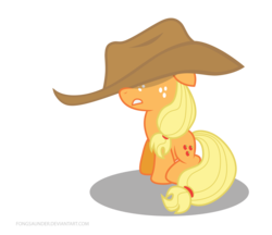 Size: 2656x2300 | Tagged: safe, artist:fongsaunder, applejack, filly, foal, high res, solo