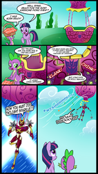 Size: 907x1600 | Tagged: artist:madmax, balloon, comic, crossover, nightbird, picnic, safe, spike, transformers, twilight sparkle