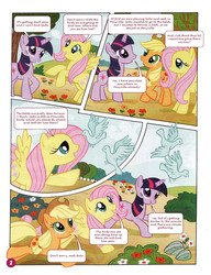 Size: 1021x1330 | Tagged: safe, applejack, fluttershy, spike, twilight sparkle, bird, german comic, official, comic, official content, the great search, translation, twilight is a lion