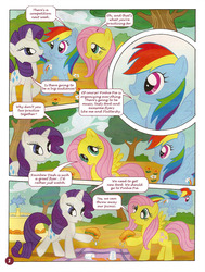 Size: 756x1000 | Tagged: safe, fluttershy, rainbow dash, rarity, german comic, official, comic, german my little pony comic, my little pony comic, official content, strange apple cookies