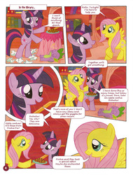 Size: 761x1000   Tagged: safe, fluttershy, spike, twilight sparkle, german comic, official, comic, crap past the radar, german my little pony comic, my little pony comic, official content, strange apple cookies, twilight is a lion