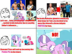 Size: 800x600 | Tagged: safe, diamond tiara, filthy rich, pinkie pie, silver spoon, cody rhodes, comic, million dollar man, snarling, ted dibiase, ted dibiase jr., wrestling, wwe