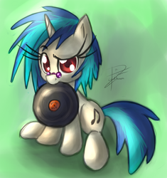 Size: 2258x2400 | Tagged: artist:leadhooves, dj pon-3, record, safe, solo, vinyl scratch