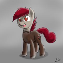 Size: 900x900 | Tagged: safe, artist:microgrid, oc, oc only, oc:coke pony, food pony, original species, solo