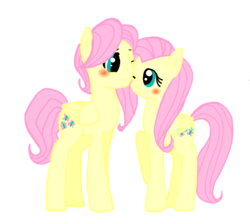 Size: 1454x1304 | Tagged: artist:jaquelindreamz, blushing, butterscotch, female, flutterscotch, fluttershy, male, rule 63, safe, selfcest, shipping, straight