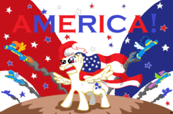Size: 1026x678 | Tagged: safe, artist:sir-croco, oc, oc only, oc:star spangler, 4th of july, american independence day, american pony, independence day, murica, nation ponies, patriot, patriotic, stars, united states