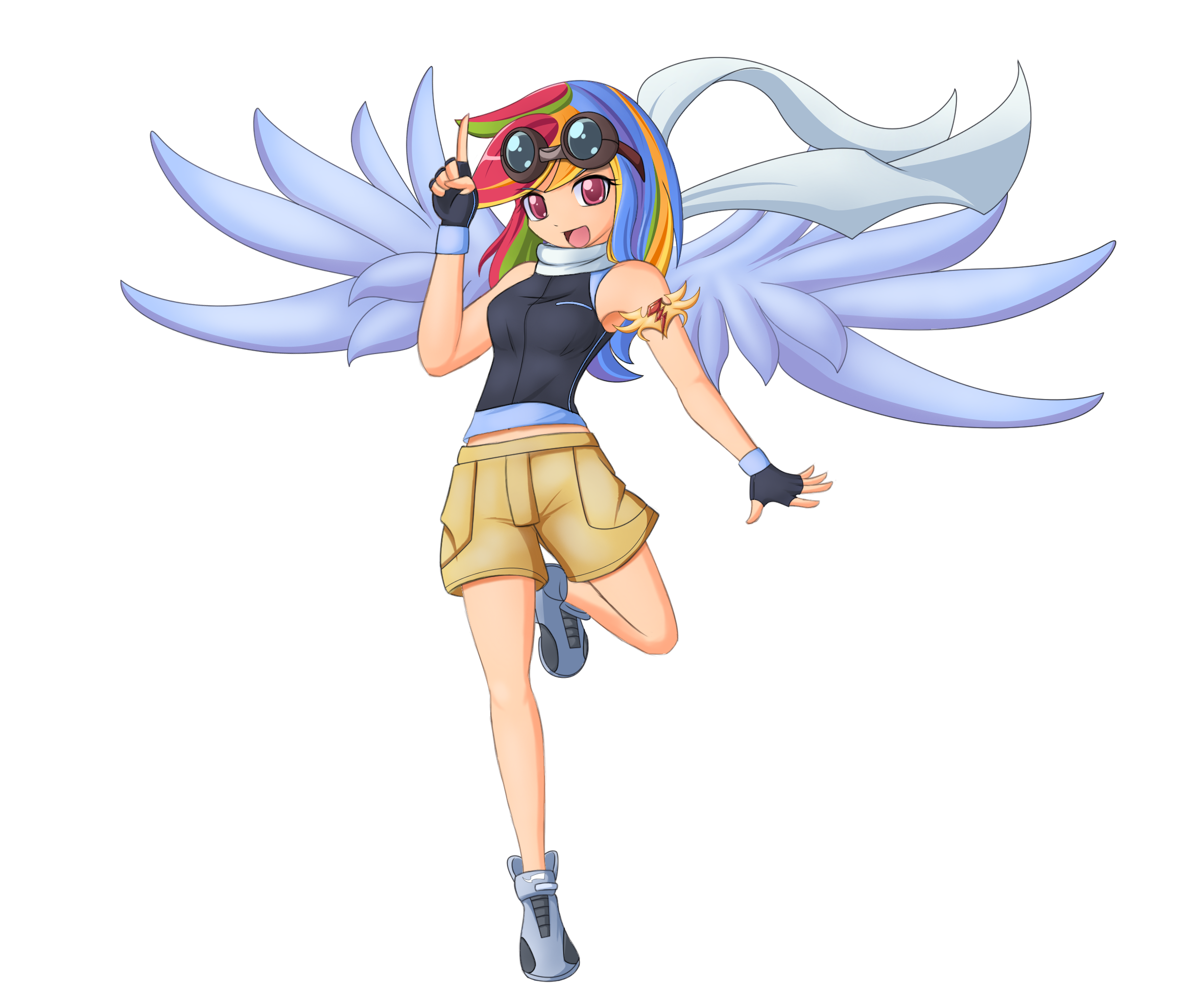 #32974   Anime, Armpits, Artist:angriestangryartist, Humanized, Rainbow Dash,  Safe, Winged Humanization   Derpibooru   My Little Pony: Friendship Is  Magic ...
