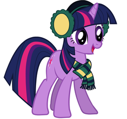 Size: 748x700 | Tagged: safe, twilight sparkle, clothes, earmuffs, official, scarf, solo, vector, winter