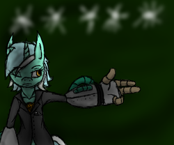 Size: 1800x1500   Tagged: safe, artist:efrejok, lyra heartstrings, pony, artificial hands, bang, bipedal, clothes, solo