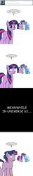 Size: 600x3203 | Tagged: safe, artist:dekomaru, trixie, twilight sparkle, unicorn, tumblr:ask twixie, dusk shine, dusktan, female, gay, gay in front of girls, lesbian, lesbian in front of boys, male, rule 63, tristan, tumblr, twixie, unicorn dusk shine, unicorn twilight