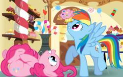 Size: 8000x5000   Tagged: safe, artist:kittyhawk-contrail, pinkie pie, rainbow dash, absurd resolution, sugarcube corner, vector