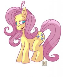 Size: 1048x1280 | Tagged: safe, artist:ruckforderungreich, fluttershy, pony, simple background, solo, white background