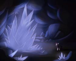 Size: 2500x2000   Tagged: safe, artist:cuteskitty, rarity, pony, unicorn, cave, crystal, high res, tiberium