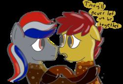 Size: 846x580 | Tagged: safe, artist:tggeko, oc, oc only, oc:coke pony, food pony, original species, pepsi pony, sad