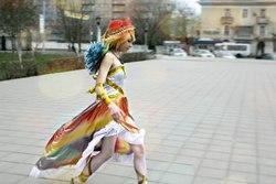 Size: 807x538 | Tagged: safe, artist:serebii42, rainbow dash, human, cosplay, irl, irl human, photo, russian, solo