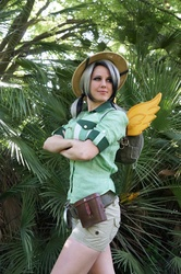 Size: 664x1000 | Tagged: safe, artist:rose0fmay, daring do, human, cosplay, irl, irl human, photo, solo, wings
