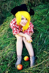 Size: 493x740 | Tagged: safe, artist:freia-raven, applejack, human, cosplay, irl, irl human, photo, russian, solo
