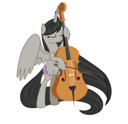 Size: 2588x2500 | Tagged: safe, artist:nianara, octavia melody, alicorn, pony, alicornified, cello, glorious cello princess, high res, long mane, long tail, musical instrument, octacorn, race swap, solo