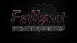 Size: 1920x1080 | Tagged: safe, artist:lightning5trike, fallout equestria, apocalypse, bolt, fallout, gears, logo, text, wallpaper