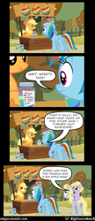 Size: 1600x3690 | Tagged: safe, artist:nightmaremoons, applejack, derpy hooves, dinky hooves, rainbow dash, pegasus, pony, ask pun, comic, dinky riding derpy, female, implied windy whistles, mare, mother and child, mother and daughter, ponies riding ponies, riding, scrunchy face, tumblr, zap apple jam