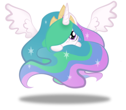 Size: 4724x4134 | Tagged: safe, artist:zackira, princess celestia, pony, absurd resolution, cute, cutelestia, female, hair over one eye, mare, part of a set, simple background, solo, sphere ponies, transparent background
