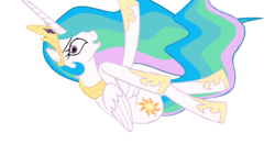 Size: 1366x768 | Tagged: safe, artist:daydreamsyndrom, princess celestia, alicorn, pony, two best sisters play, cute, cutelestia, female, mare, sillestia, silly, simple background, solo, transparent background
