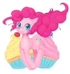 Size: 473x498 | Tagged: artist:shioiri, pinkie pie, safe, solo