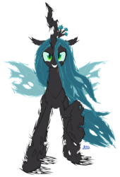 Size: 3543x5197 | Tagged: artist:blue-paint-sea, changeling, changeling queen, female, queen chrysalis, safe