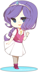 Size: 227x430 | Tagged: artist:niaro, chibi, clothes, humanized, rarity, safe, solo, vest