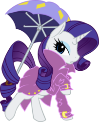 Size: 931x1145 | Tagged: artist:grinning-alex, raincoat, rarity, safe, umbrella