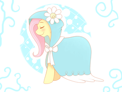 Size: 800x600 | Tagged: safe, artist:rosewhistle, fluttershy, secret of my excess, cape, cloak, clothes, hood, solo
