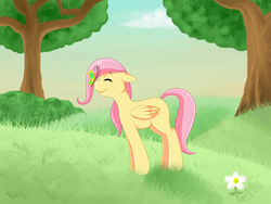 Size: 800x600 | Tagged: safe, artist:rosewhistle, fluttershy, filly, solo