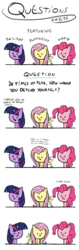 Size: 1470x4680   Tagged: safe, artist:chibi95, fluttershy, pinkie pie, twilight sparkle, pony, chibi, comic, dialogue, gun, simple background, transparent background