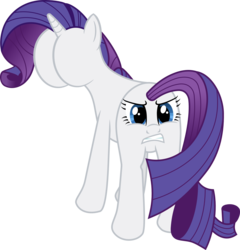 Size: 2266x2365   Tagged: safe, artist:crunchnugget, rarity, pony, unicorn, buttface, evil twin, face, funny, funny porn, high res, plot, simple background, solo, transparent background, wat, what has science done