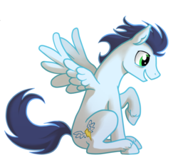 Size: 1280x1205   Tagged: safe, artist:purmu, soarin', pegasus, pony, cloven hooves, male, simple background, sitting, stallion, transparent background