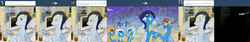 Size: 3781x636 | Tagged: safe, artist:tinuleaf, blaze, fire streak, fleetfoot, high winds, lightning streak, misty fly, rainbow dash, silver lining, silver zoom, soarin', spitfire, surprise, wave chill, pegasus, pony, ..., :o, ask, bet, blushing, cloud, crossed hooves, ear blush, embarrassed, eyes closed, female, g1, glass, grin, holding hooves, looking at you, looking down, male, mare, messy mane, open mouth, shipping, shocked, shoulder fluff, skywriting, smiling, soarindash, stallion, straight, surprised, television, text, tumblr, wide eyes, wing fluff, wonderbolts, wonderbolts uniform
