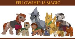 Size: 4230x2187 | Tagged: safe, artist:mazepony, earth pony, pegasus, pony, unicorn, aragorn, boromir, fellowship is magic, fellowship of the ring, frodo, frodo baggins, gandalf, gandalf the grey, gimli, j.r.r. tolkien, legolas, lord of the rings, lord of the rings: fellowship of the ring, meriadoc brandybuck, peregrin took, pippin, ponified, sam, samwise gamgee