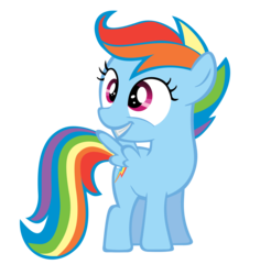 Size: 1644x1671 | Tagged: artifact, artist:orangel8989, dyed coat, dyed mane, female, filly, foal, palette swap, pegasus, pony, rainbow dash, recolor, safe, scootaloo, scootobsession, simple background, solo, transparent background, vector