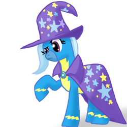 Size: 576x576 | Tagged: safe, artist:darkm0neo, trixie, pony, unicorn, clothes, female, mare, solo, uniform, wonderbolts