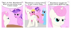 Size: 2583x1047 | Tagged: safe, artist:t-brony, amethyst star, cherry berry, linky, shoeshine, sparkler, twinkleshine, comic:friendship is tragic, comic, moondancer (tragic)