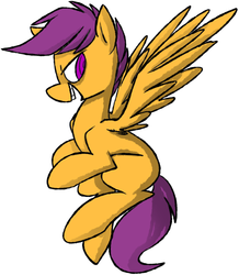 Size: 940x1076 | Tagged: safe, artist:ghost, scootaloo, pegasus, pony, grin, solo